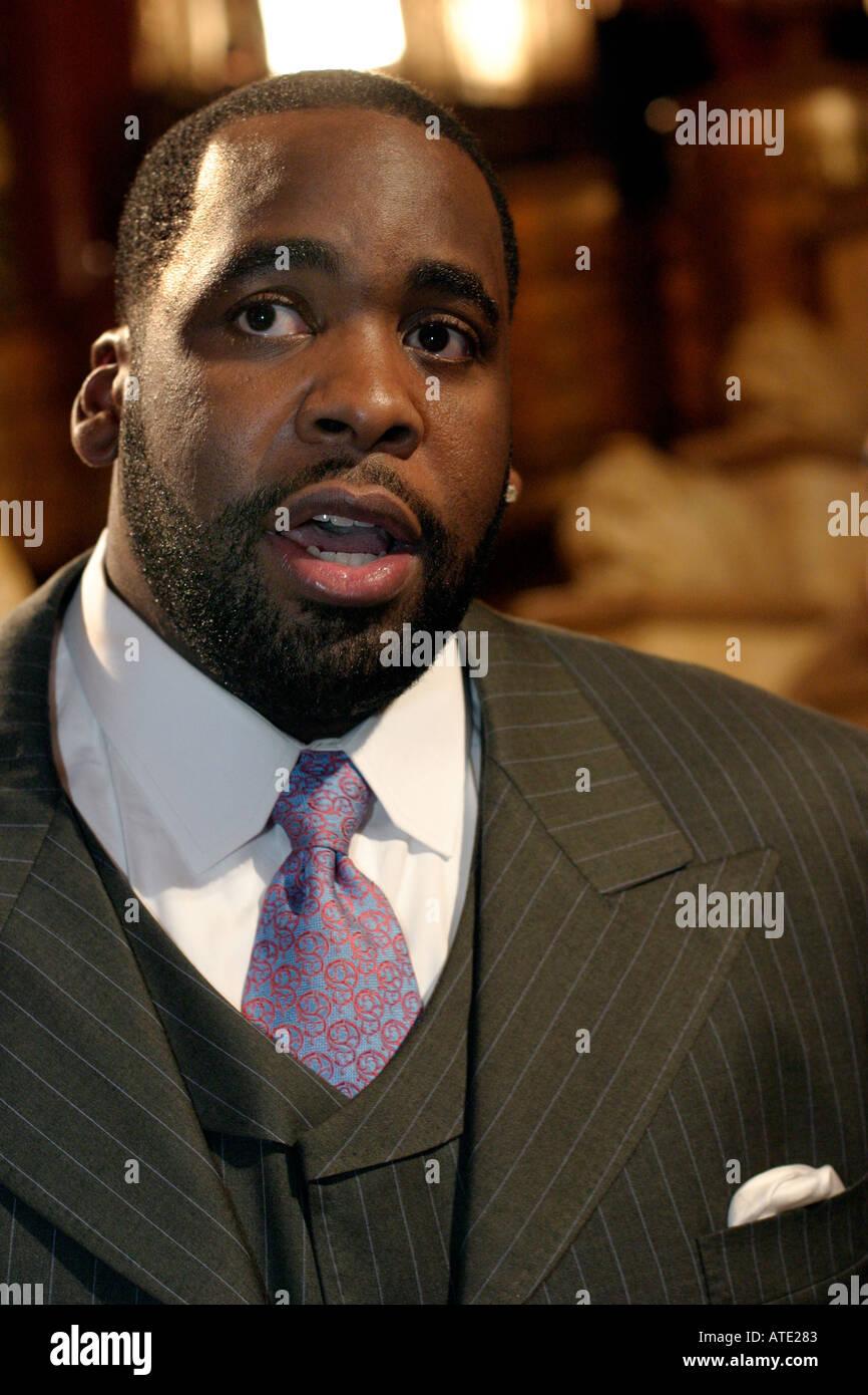 Detroit Mayor Kwame Kilpatrick - Stock Image