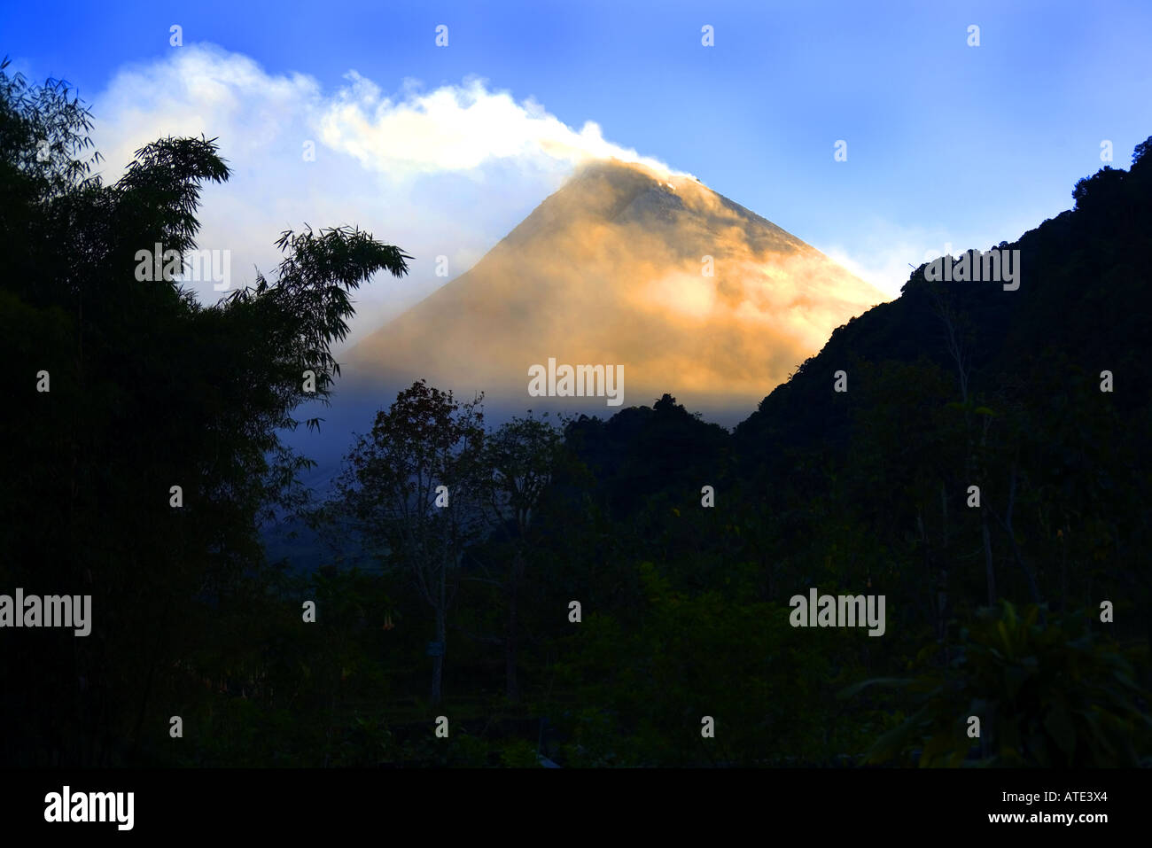 Mt. Merapi, Central Java, Indonesia - Stock Image