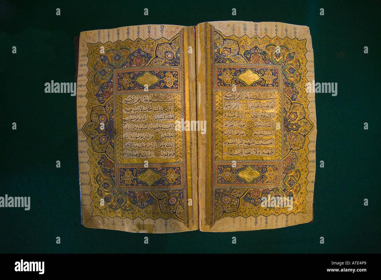 17th century Koran, Turkey - Stock Image