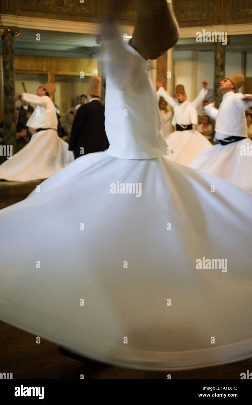 Whirling Dervishes, Istanbul, Turkey - Stock Image