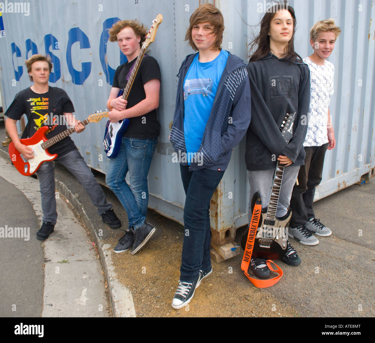 High school rock and roll band - Stock Image