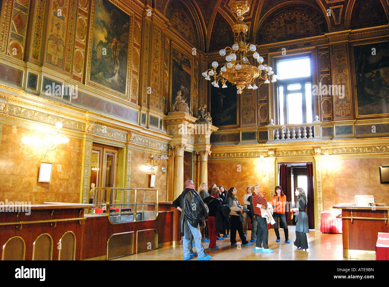 Interior rooms of State Opera House, Pest, Budapest, Republic of Hungary - Stock Image