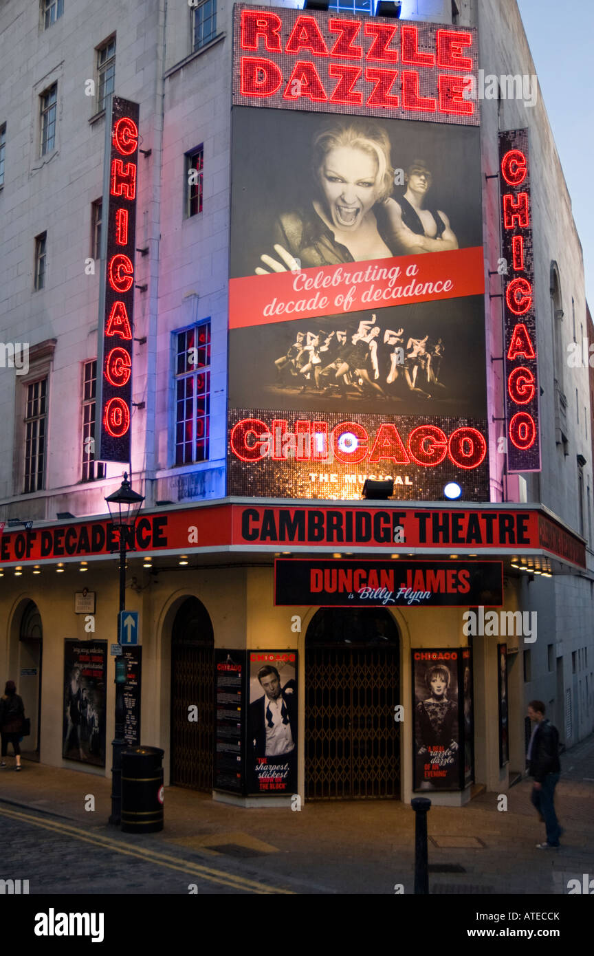 Cambridge Theatre in London, UK - Stock Image