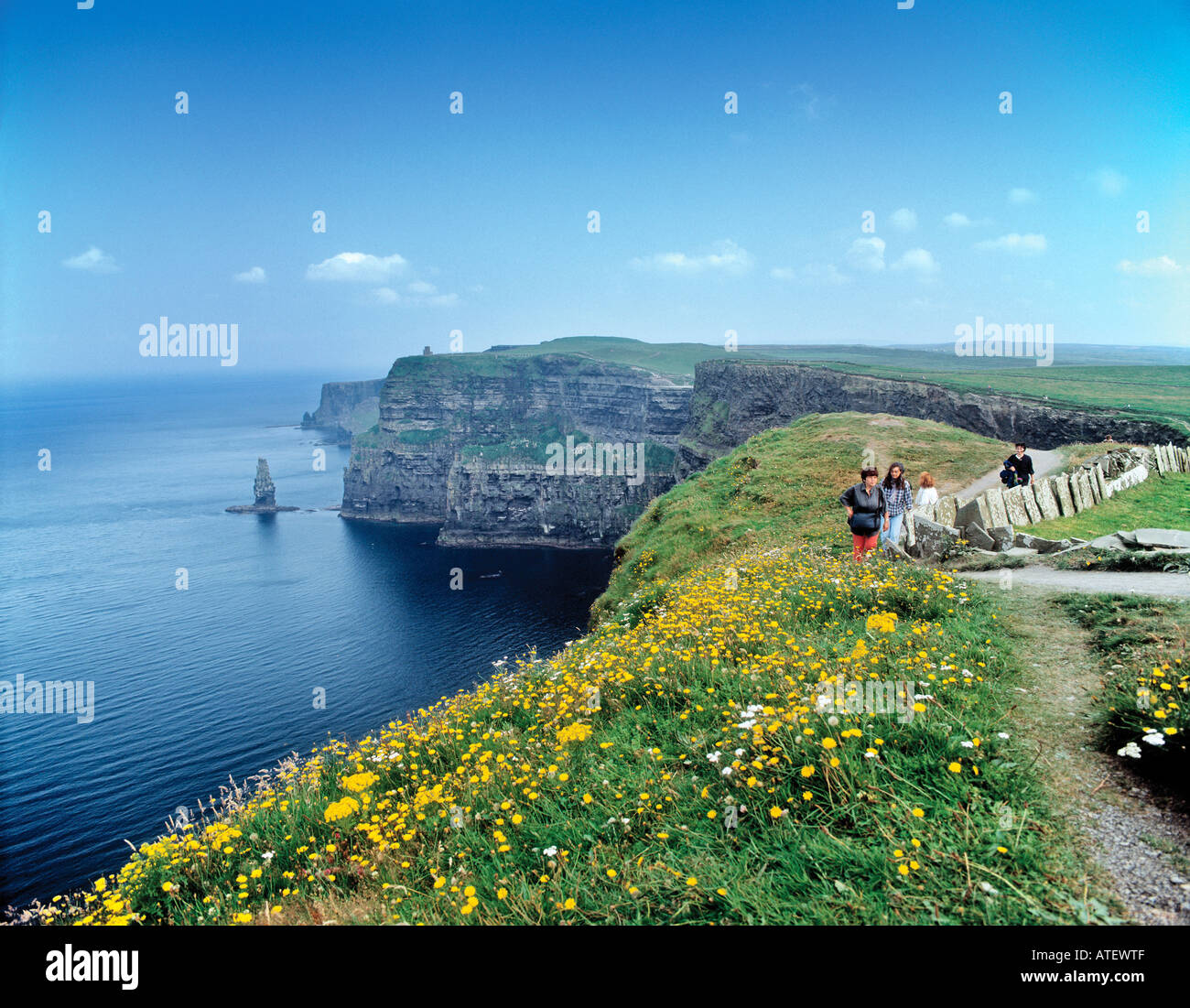 Cliffs of Moher County Clare Republic of Ireland - Stock Image