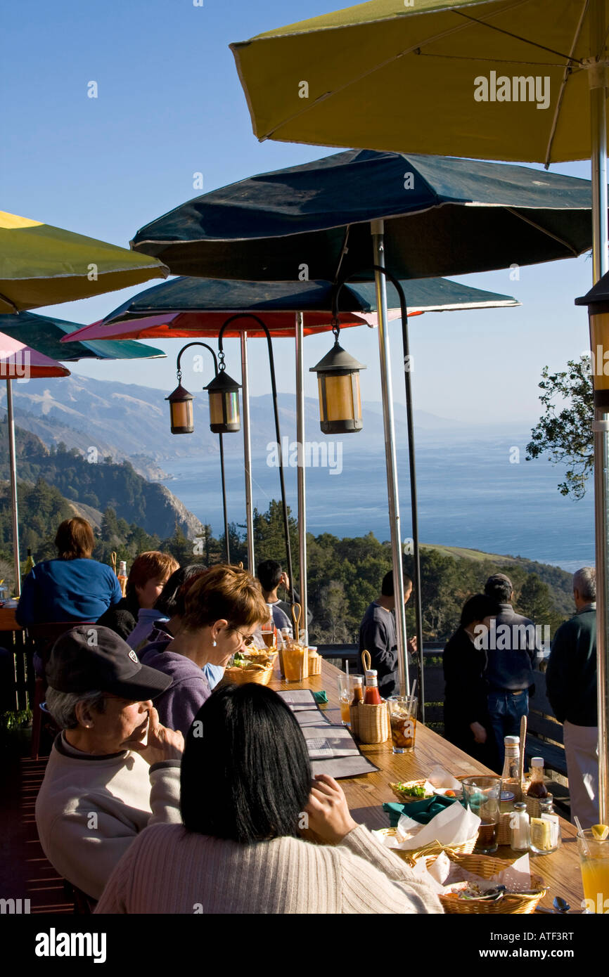 Nepenthe Restaurant Big Sur Monterey County Usa Stock
