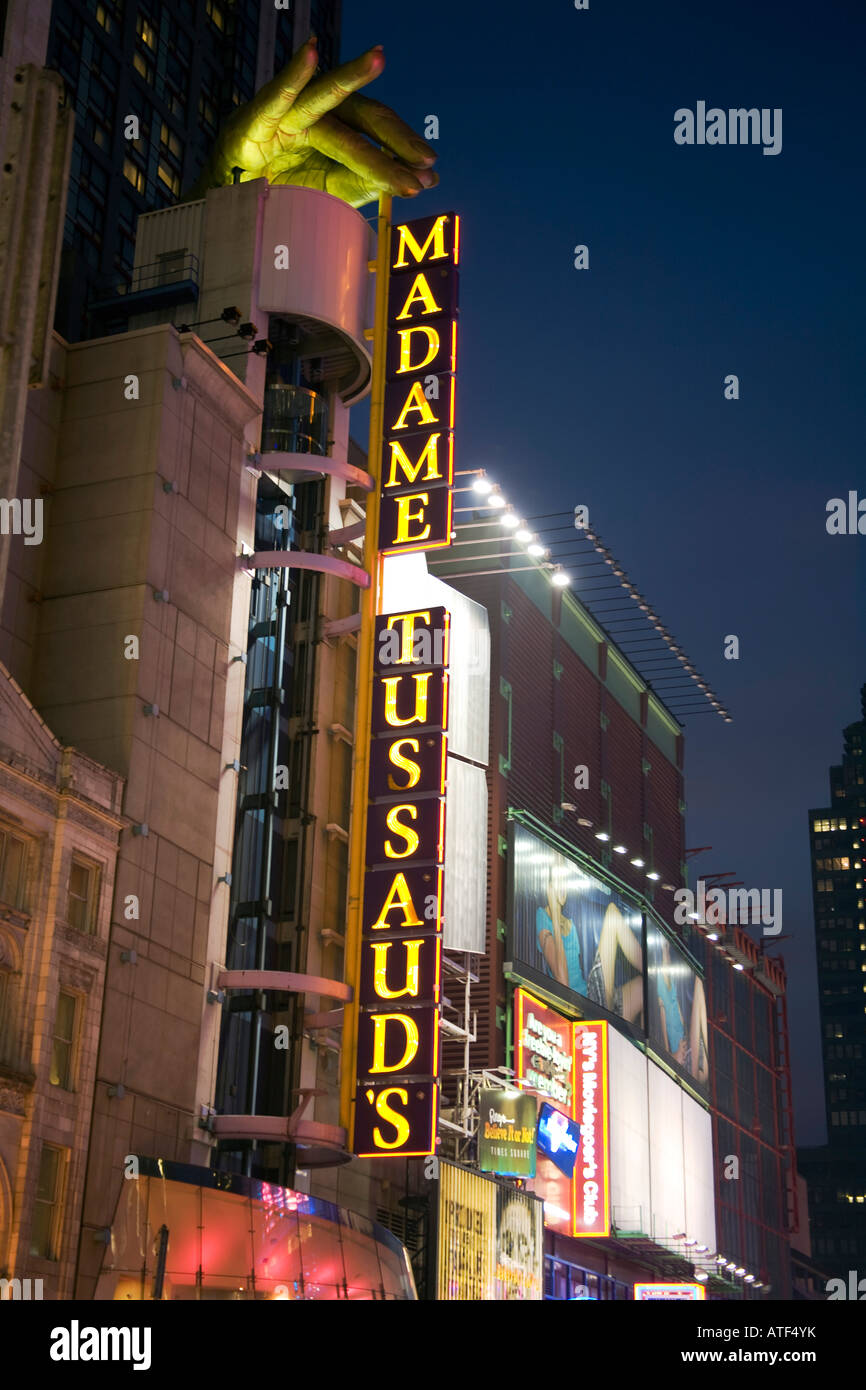 Madame Tussaud's, 42nd Street, Times Square, Manhattan, New York - Stock Image
