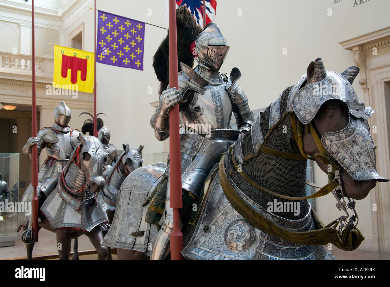 Arms and Armor, Metropolitan Museum of Art, Manhattan, New York - Stock Image
