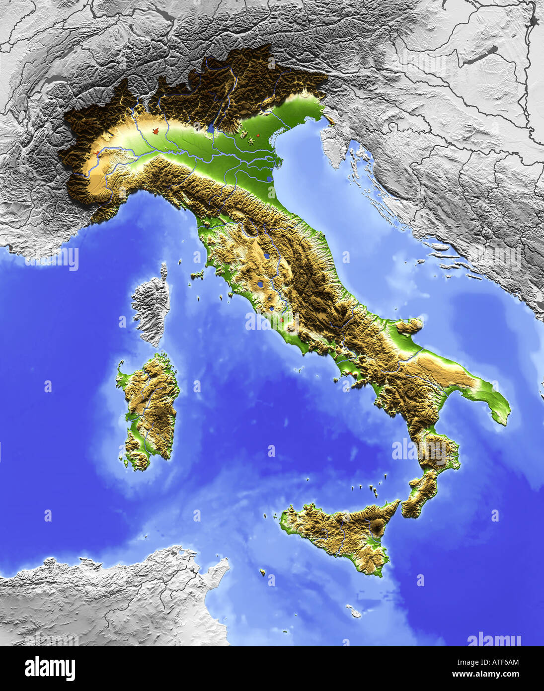 Picture of: Map Italy High Resolution Stock Photography And Images Alamy