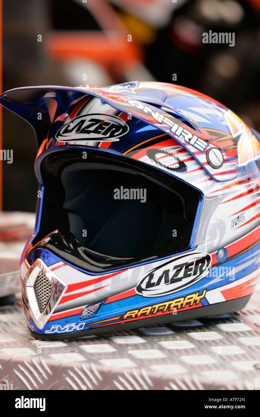 A Motocross MX full face Helmet Stock Photo: 16300172 - Alamy