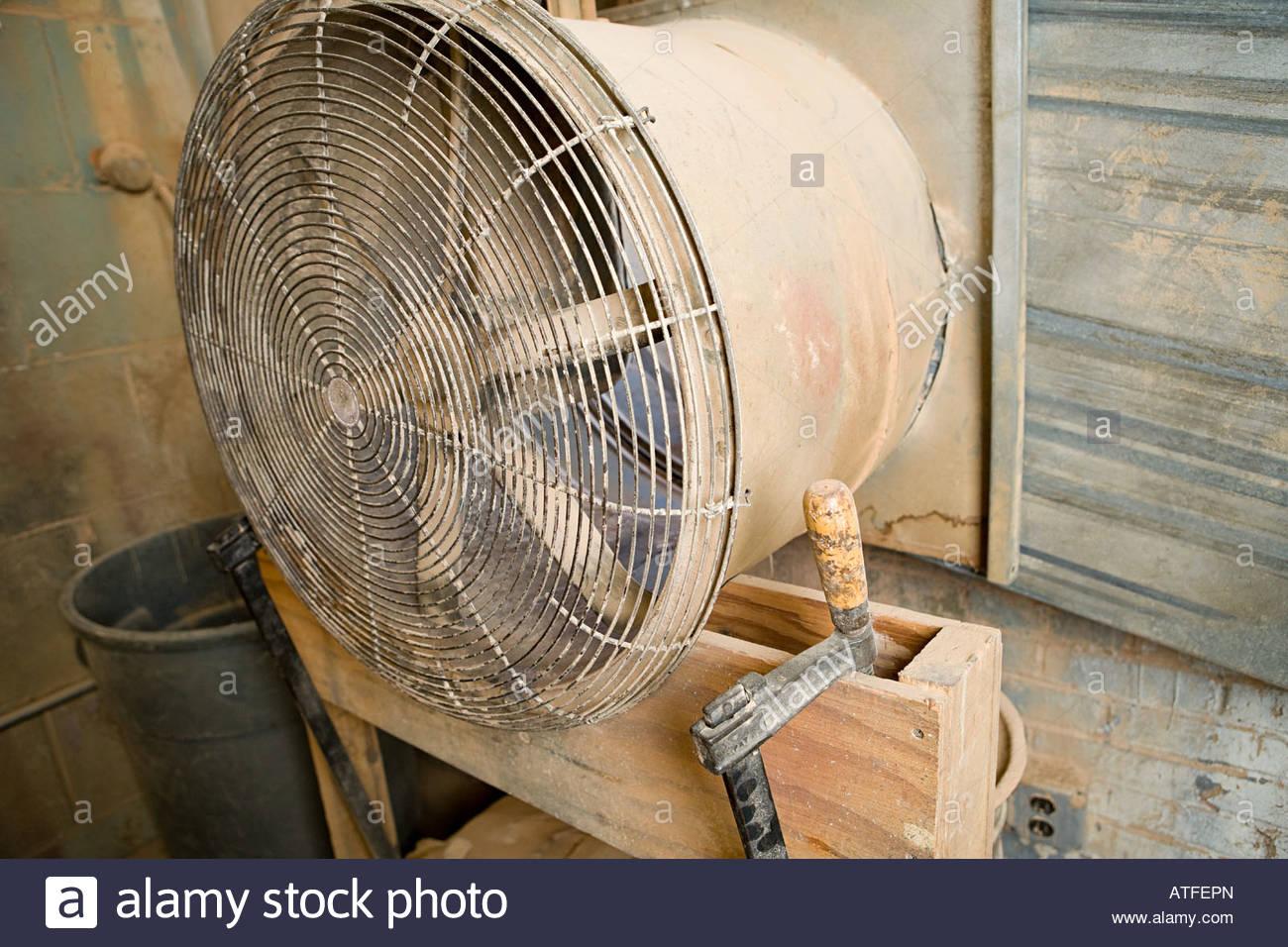 Large dusty fan - Stock Image