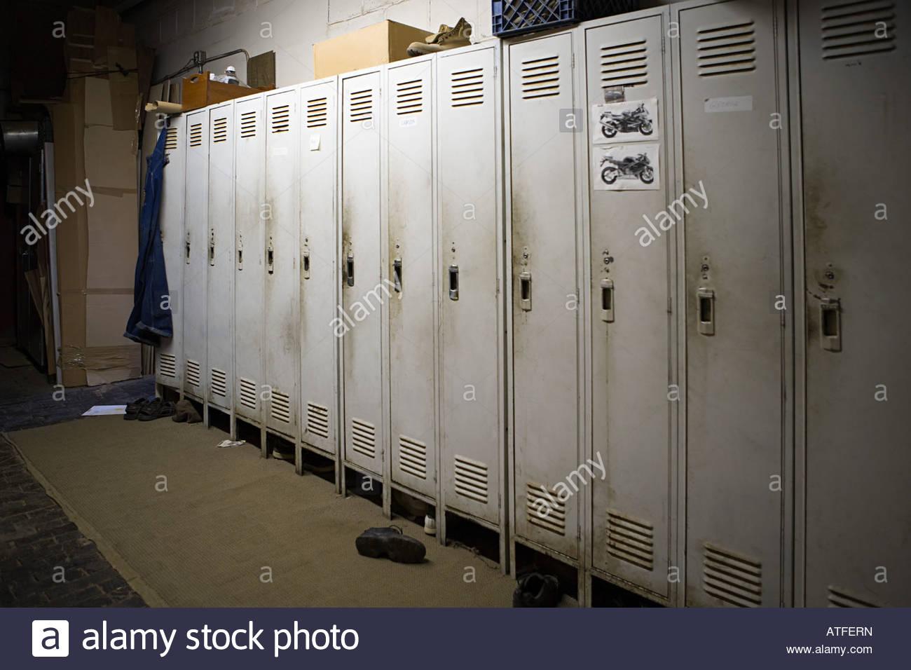 Locker room - Stock Image