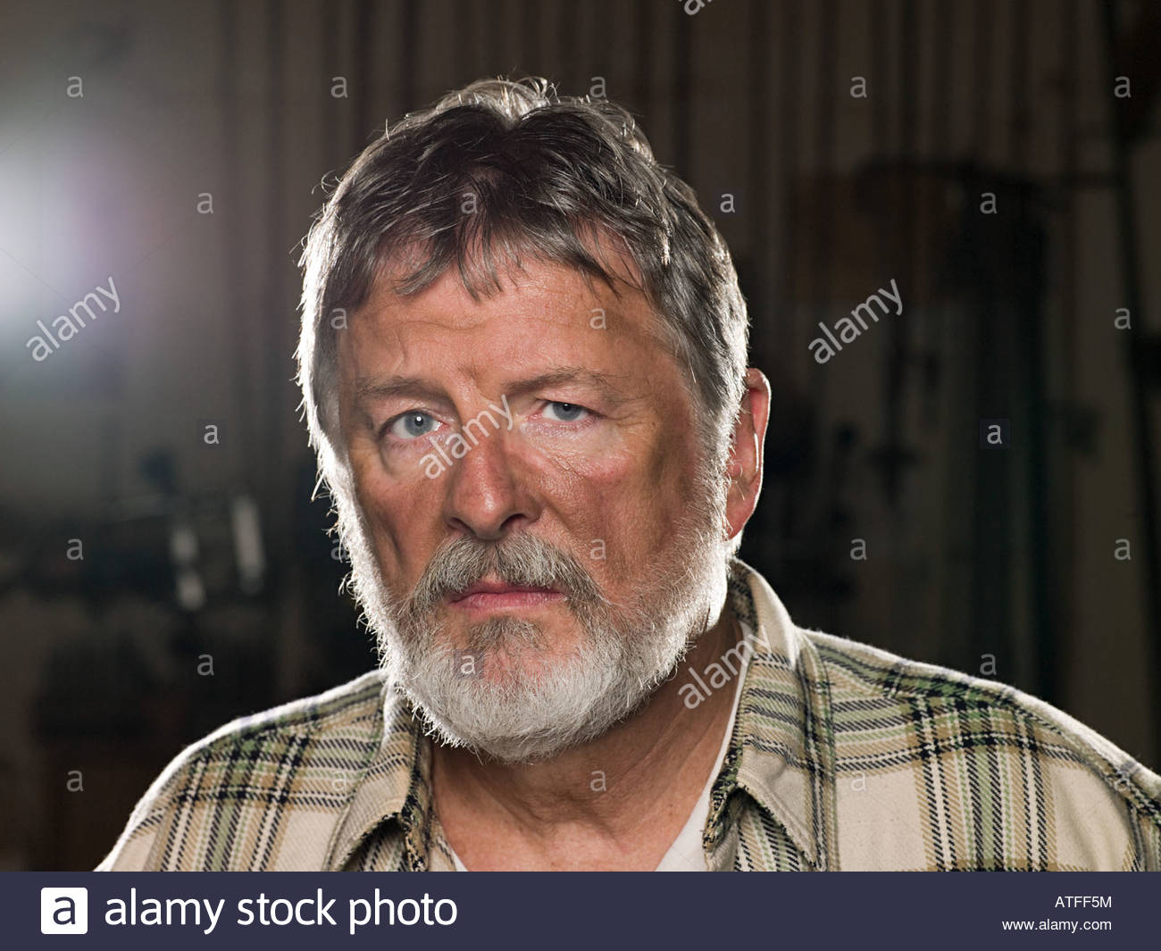 Male blue collar worker - Stock Image