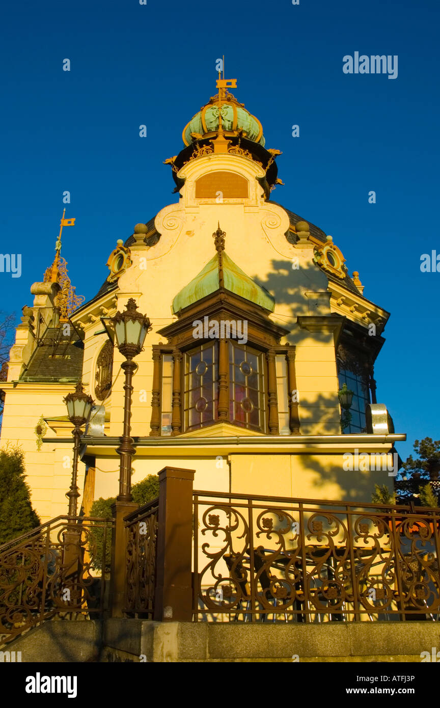 Hanavavsky Pavilon in Letna park in Prague Czech Republic Stock Photo