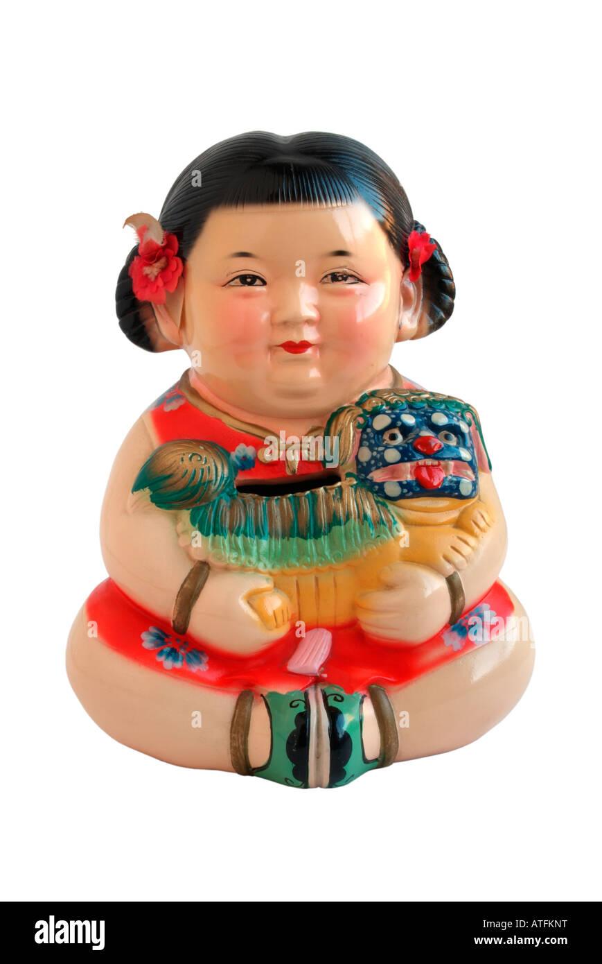 Chinese money box - Stock Image