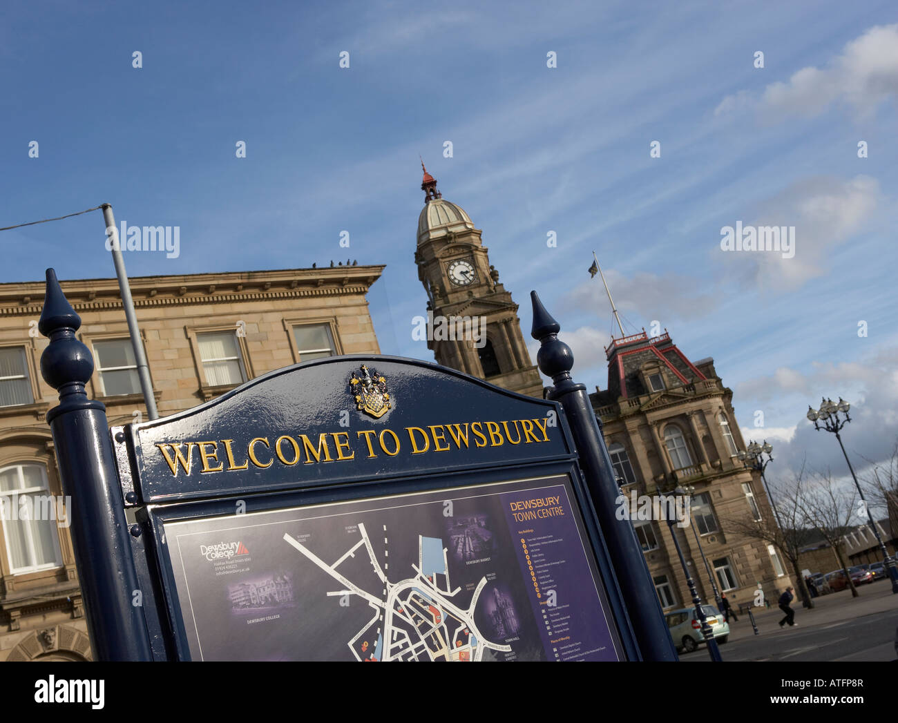 DEWSBURY TOWN HALL - Stock Image