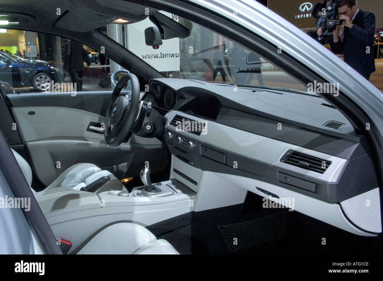 2005 BMW M5 interior at the North American International Auto Show ...