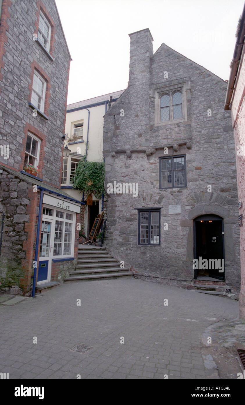 The Tudor Merchant's House in Tenby Wales - Stock Image