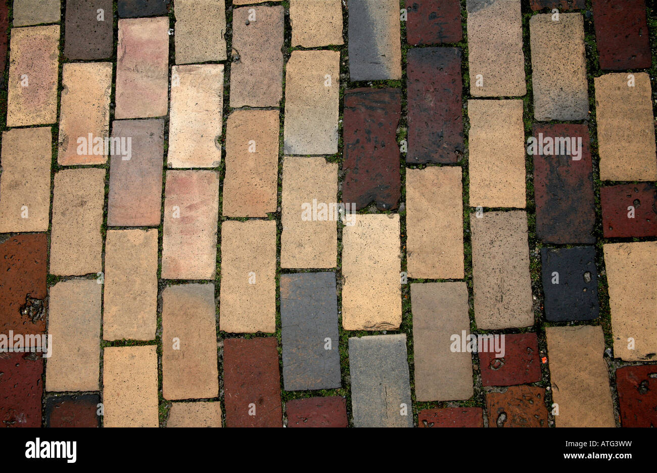 street paving stones colorful pattern abstract art - Stock Image
