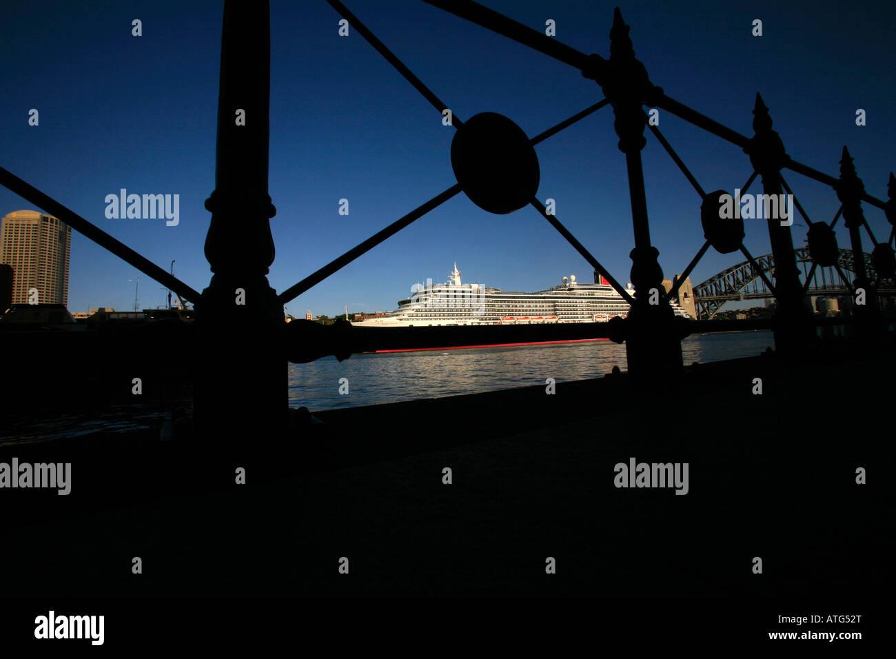 Cruise Liner Circular Quay Sydney Australia - Stock Image