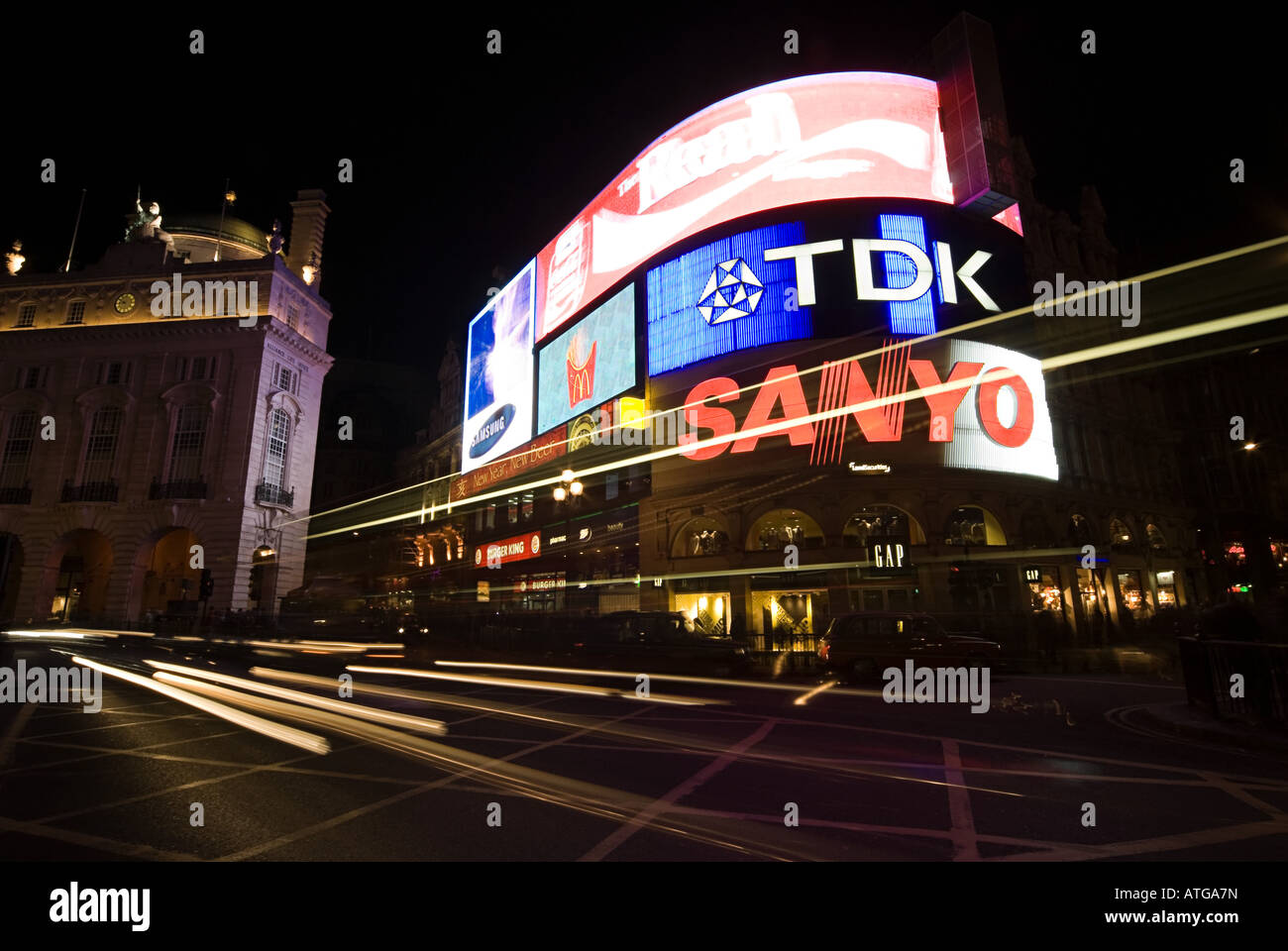 Piccadilly circus london - Stock Image