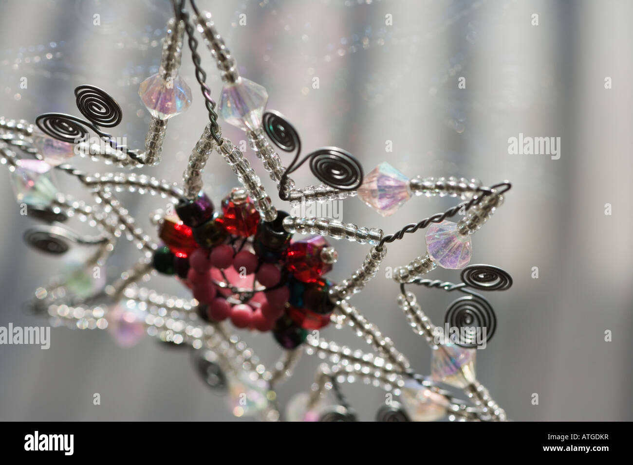 Star shaped christmas decoration - Stock Image