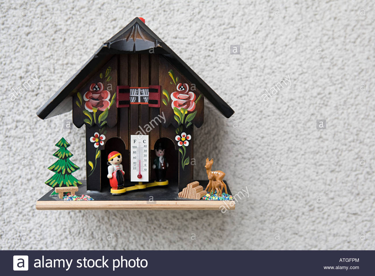 Weather house - Stock Image