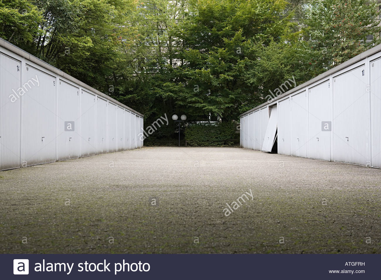 Garages in a row - Stock Image