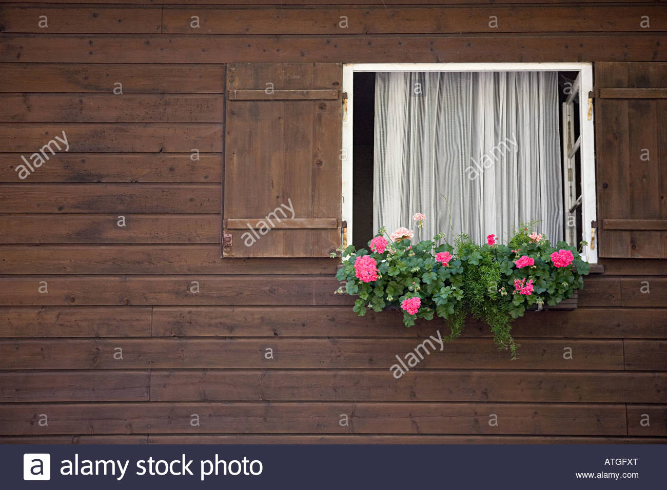 Window of a traditional german house - Stock Image