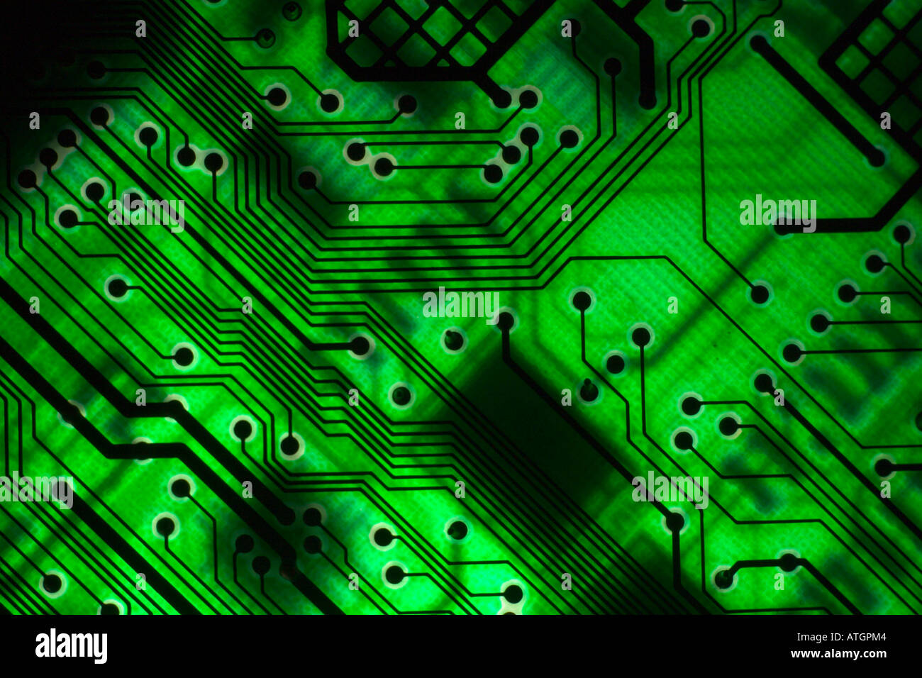 Backlit Electronic Circuit Board Stock Photo 9322691 Alamy Design