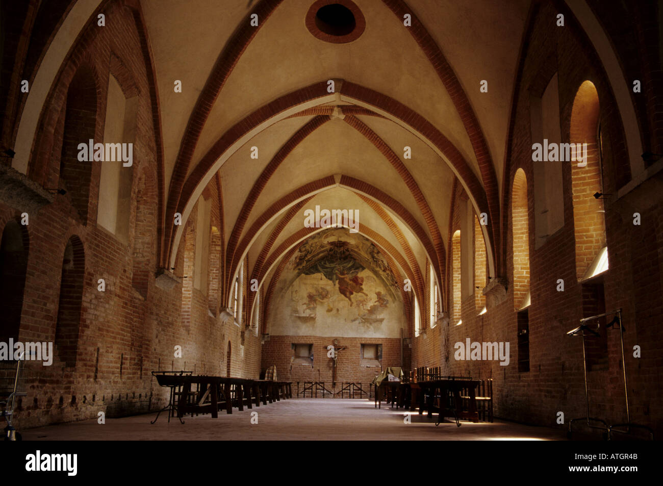 A chapel in the Chiaravalle abbey, Milan province - Stock Image