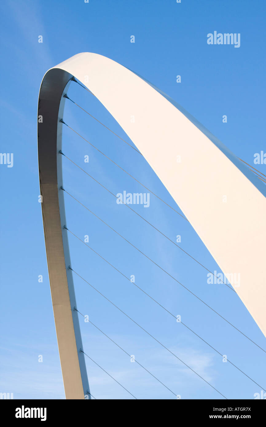Gateshead Millenium Bridge Gateshead Newcastle UK - Stock Image