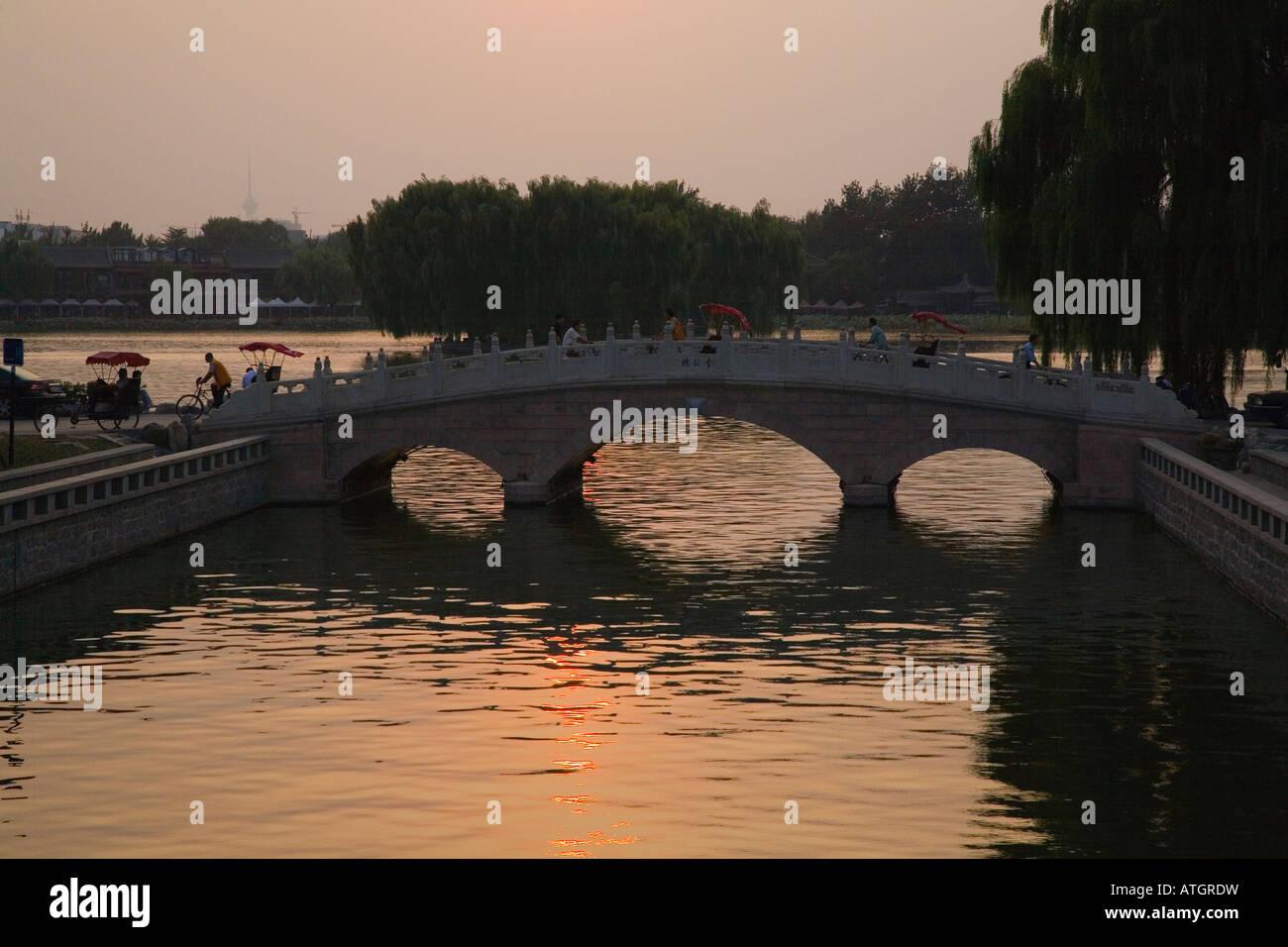 Back Lake of Shichahai, Beijing, China - Stock Image