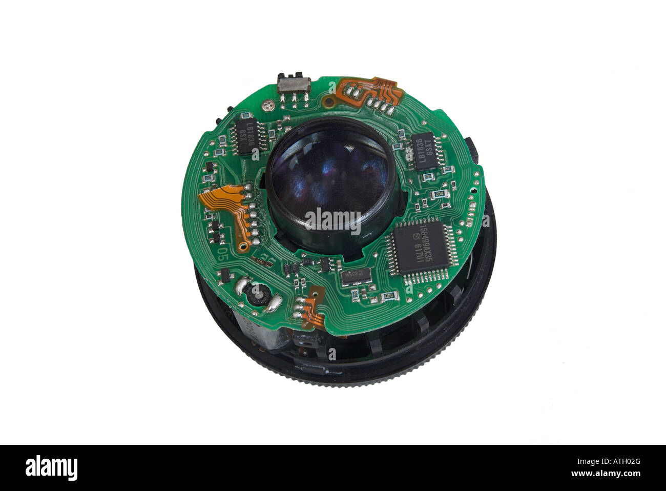 Circuit Board Electronic Components Inside Cut Out Stock Images Circuits Explained Internal Circuitry In A Canon Lens Image
