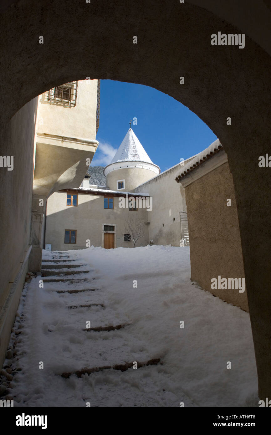 Inside Rennaissance Castle Goldrain, Italy Stock Photo