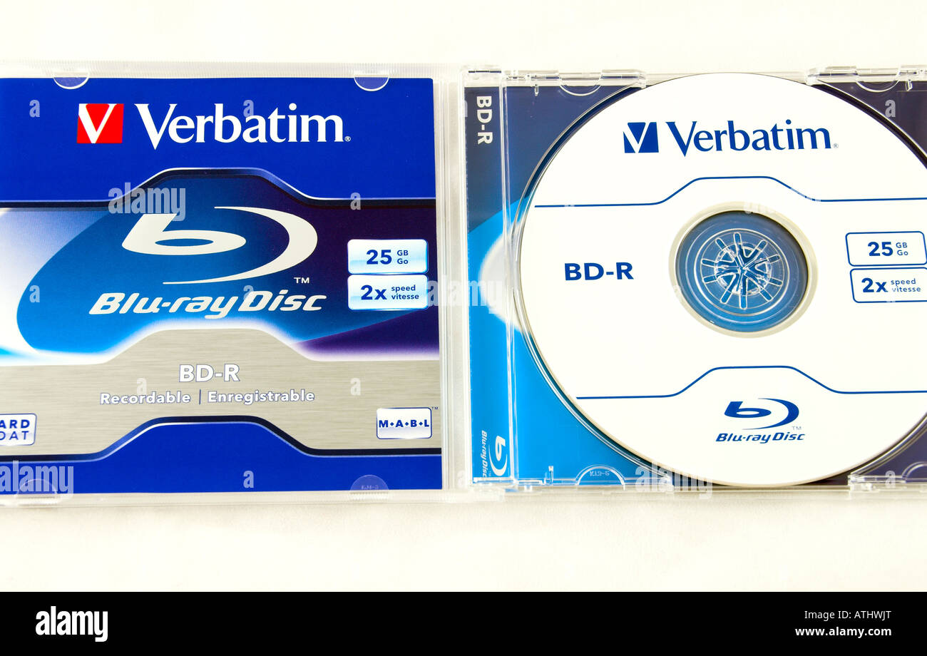 Recordable Blu Ray Disc - Stock Image