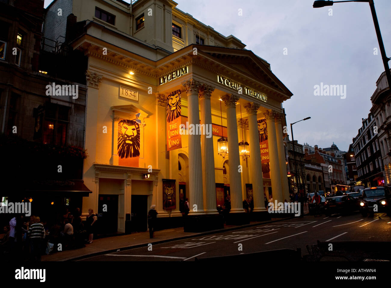 the lion king at the lyceum theatre in london england