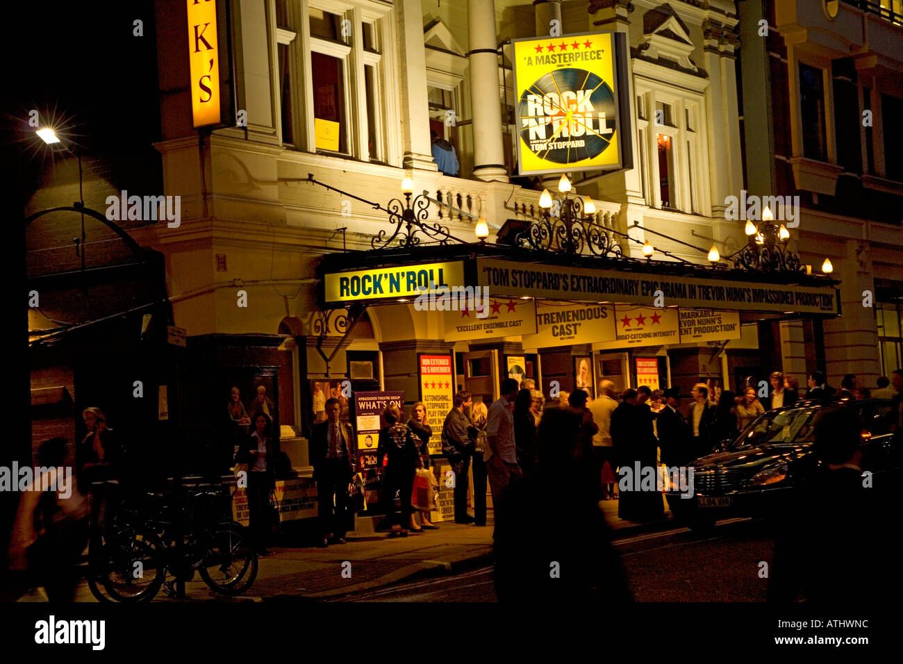 Rock n Roll at the Duke of York's Theatre in London England - Stock Image