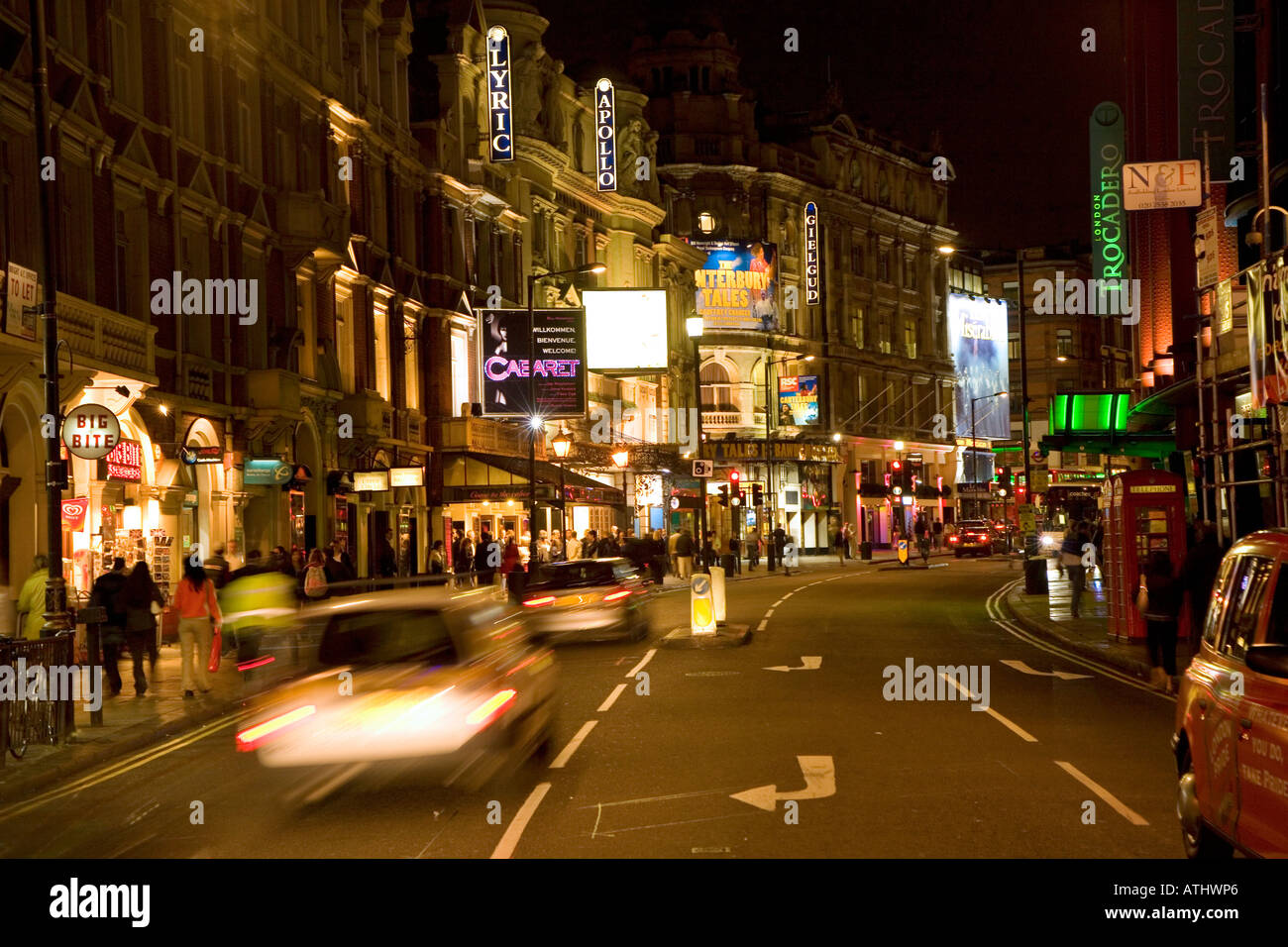 Shaftesbury Avenue London s theatreland - Stock Image