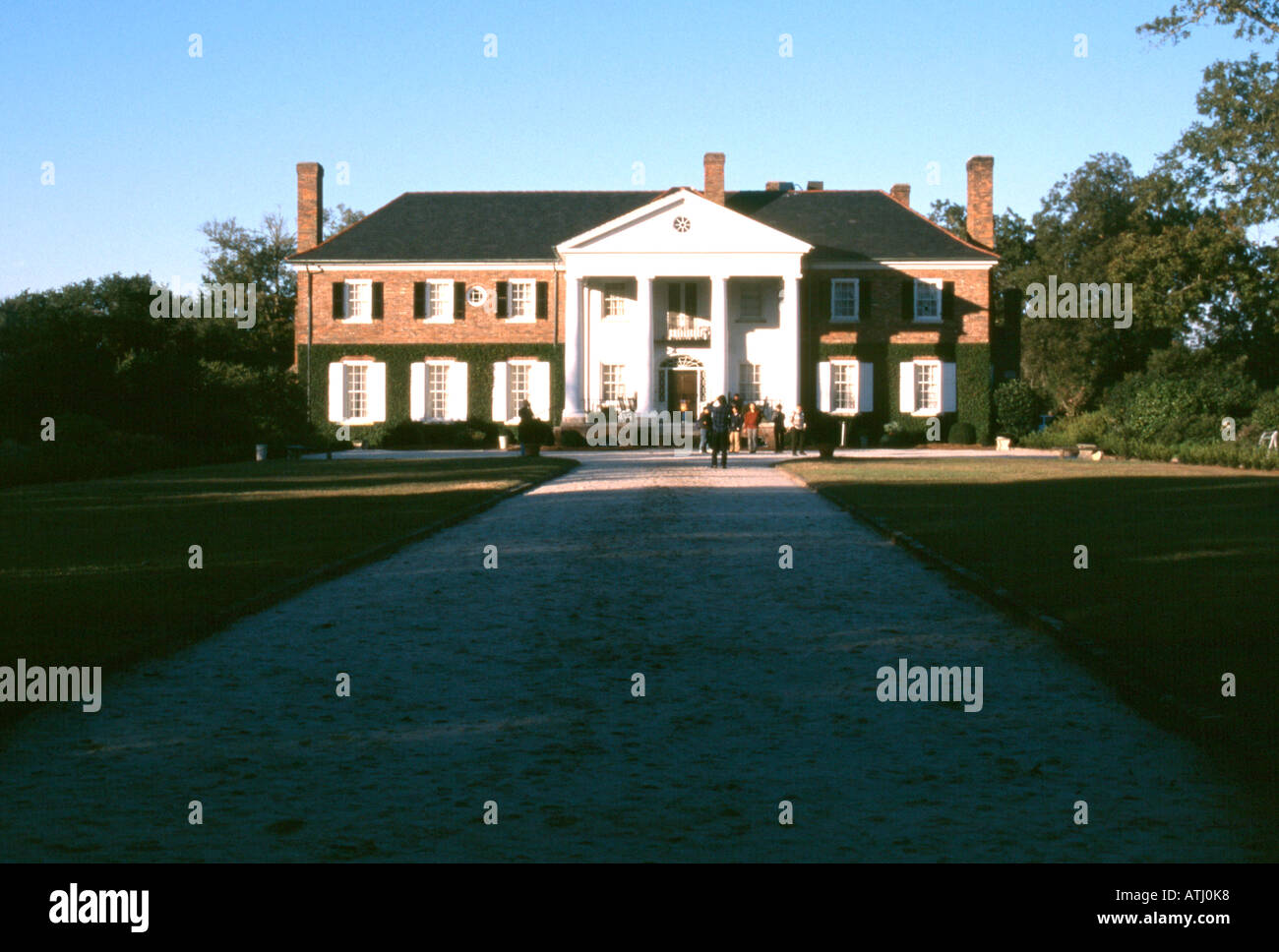 Cotton plantation mansion in Deep South of USA - Stock Image