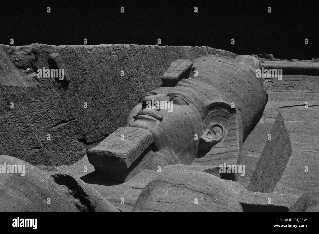 Ramses the Second at Abu-Simbel, Egypt Stock Photo