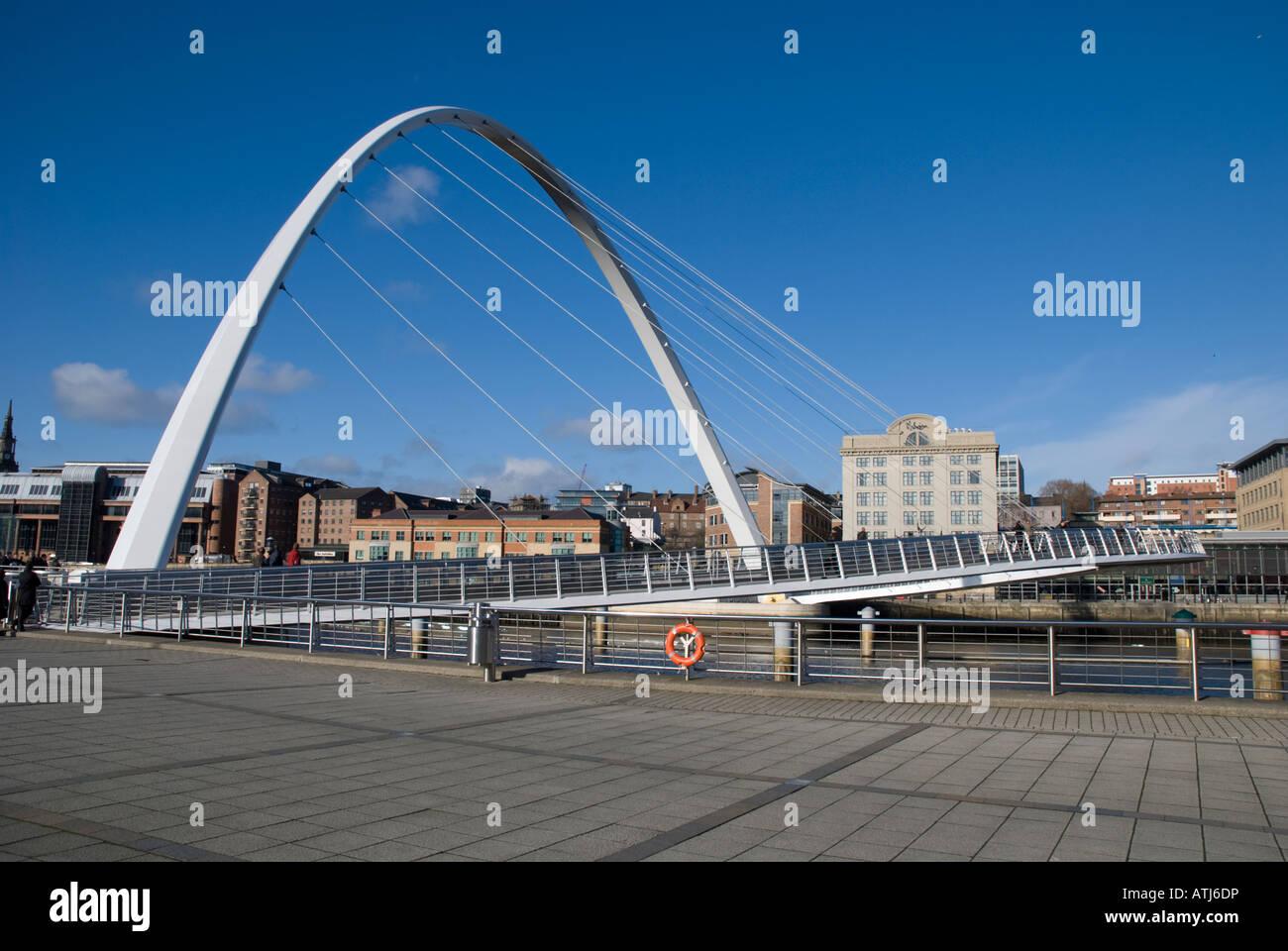 Gateshead Millennium Bridge - Stock Image