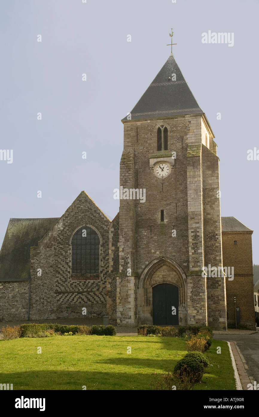 France Somme St.Valery-sur-Somme St.Martin church - Stock Image