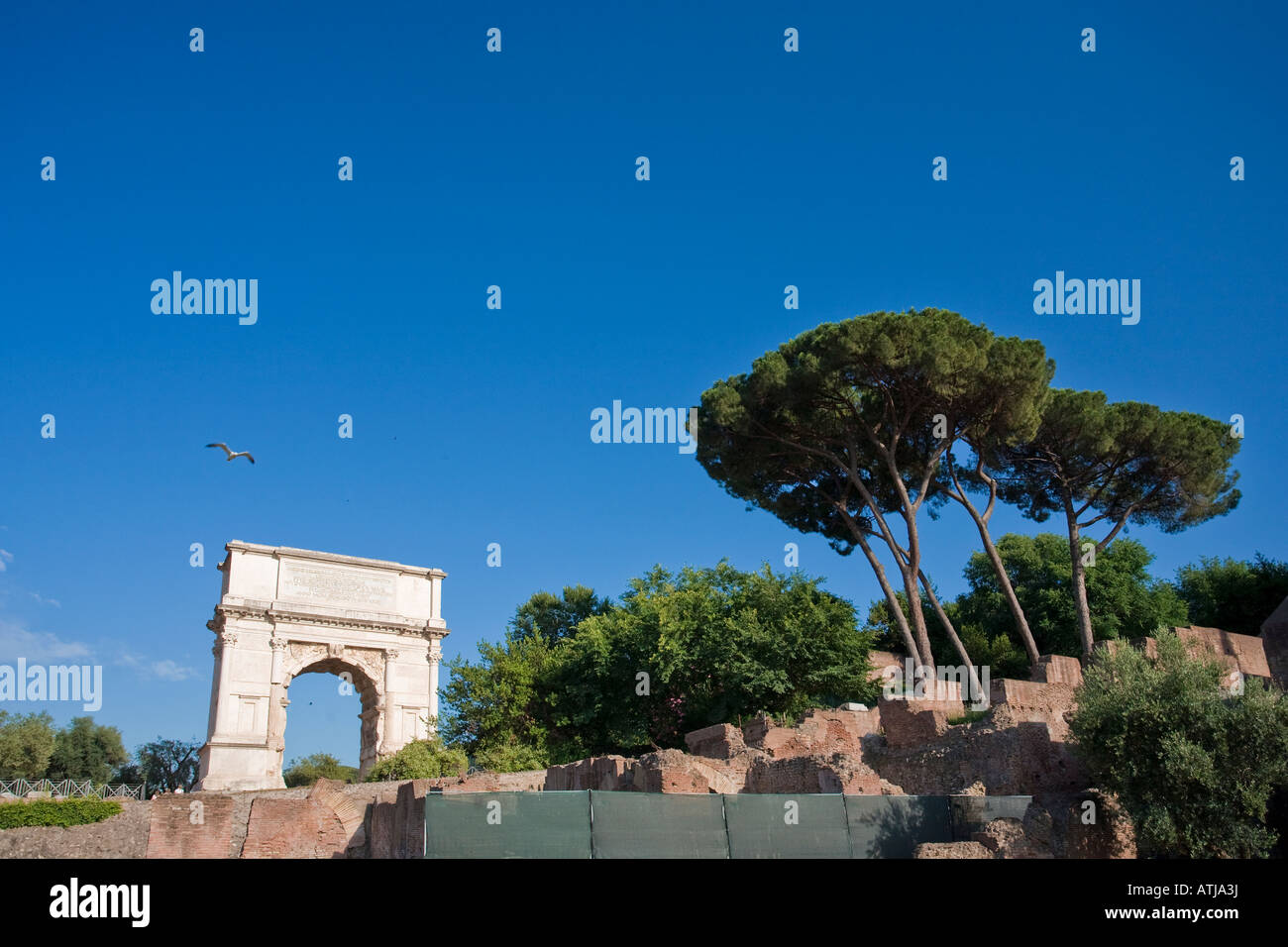 Arch of Titus Roman Forum Rome Italy - Stock Image