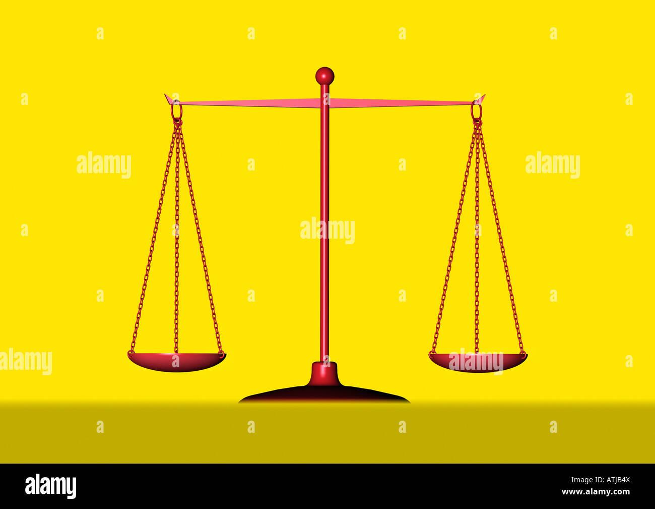 balance Balkenwaage - Stock Image