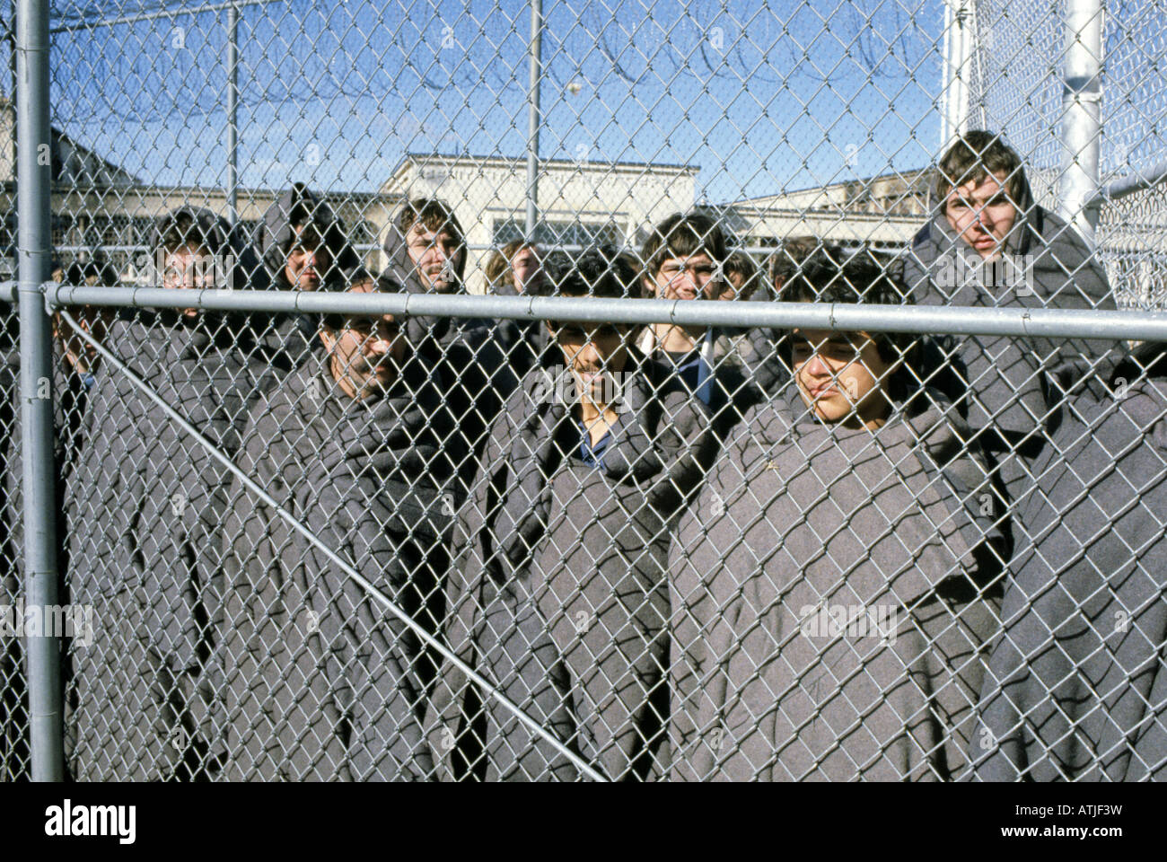 Prisoners who took part in the New Mexico State Penitentiary Riot which took place on February 2 and February 3 - Stock Image