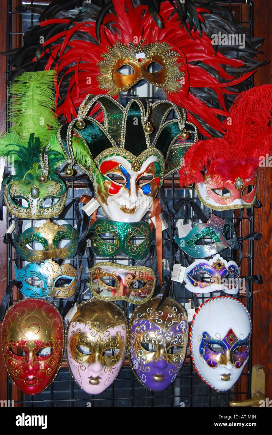 Opera Masks, The State Opera House, Pest, Budapest, Republic of Hungary - Stock Image
