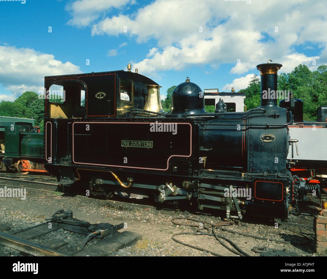 'The Countess' steam locomotive, Wales, UK. - Stock Image