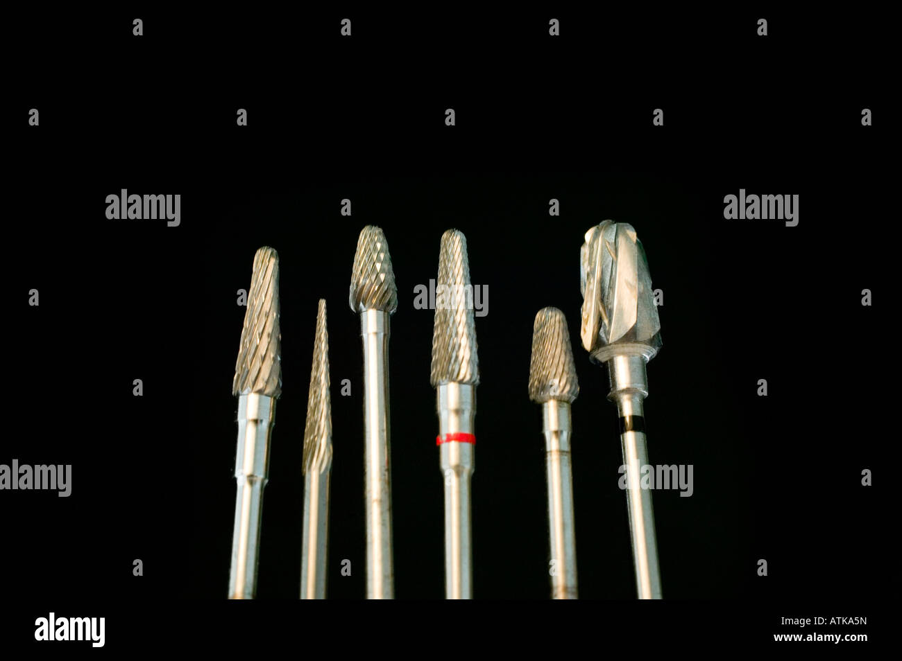 Bohrer vom Zahnarzt, Drill of the dentist, tool - Stock Image