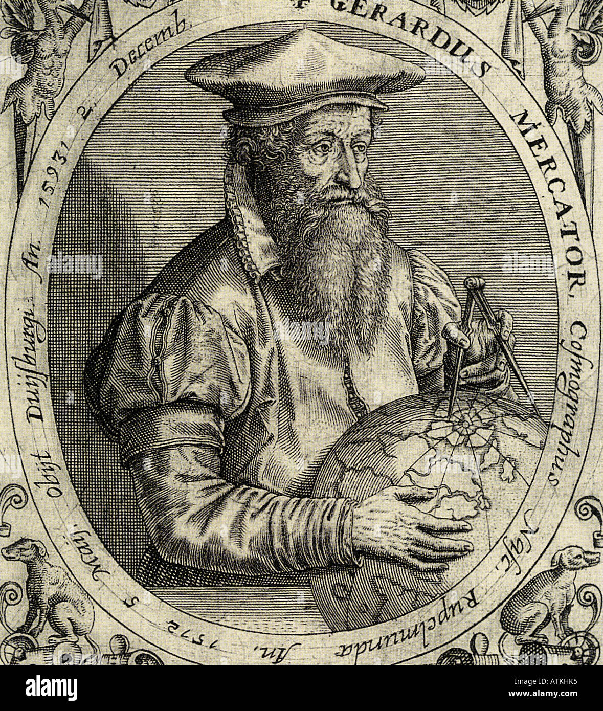 GERARDUS MERCATOR 1512 to 1594 Flemish cartographer who introduced the idea  of a cylindrical plan to map the globe