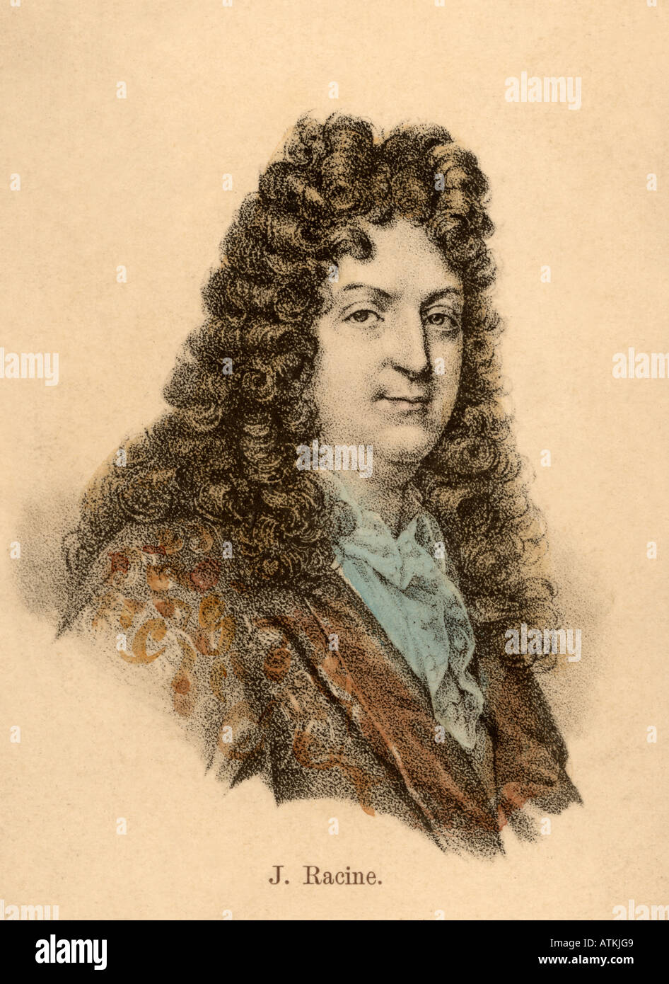 JEAN RACINE French playwright 1639 to 1699 - Stock Image